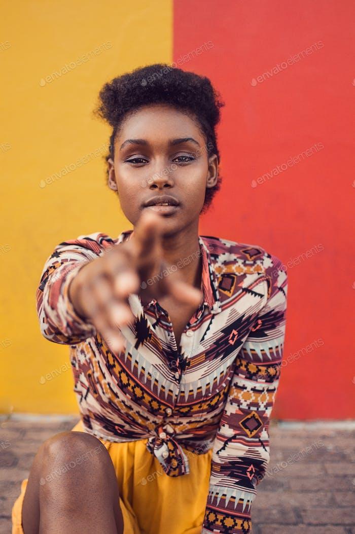 Afroamerikanisches Mädchen