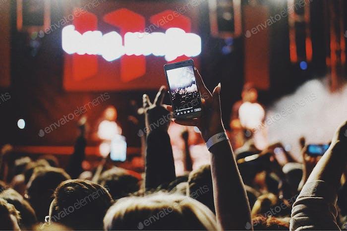 Facebook Live at concert...