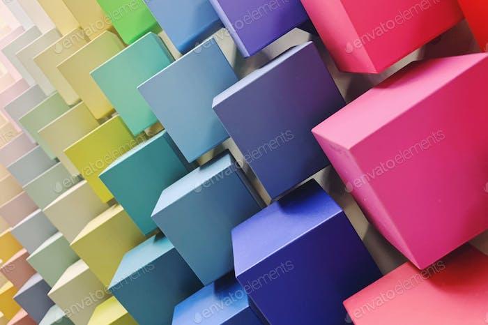 Rainbow Paint Color Palette