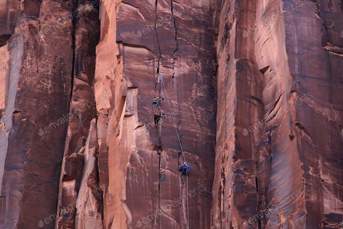Rock Climbers in Moab, Utah