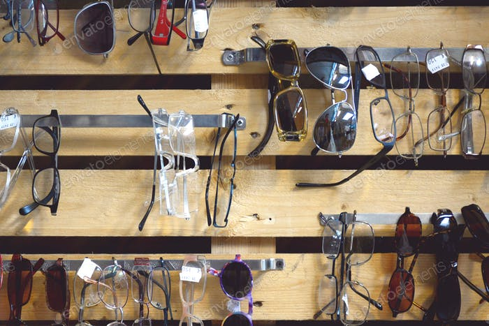 Different types of second-hand eyewear for sale  * Nominated! *