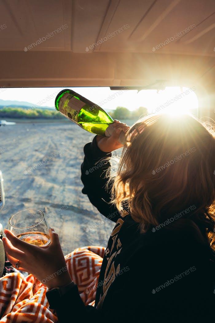 Drinks and sunshine