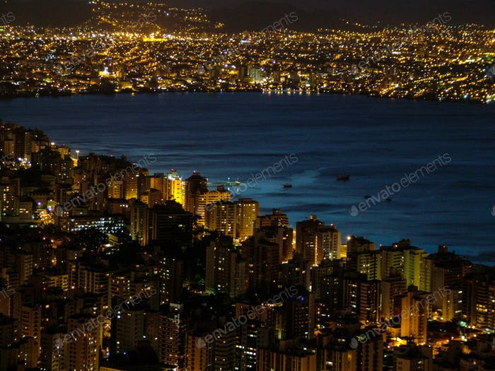 Nightview from Florianópolis