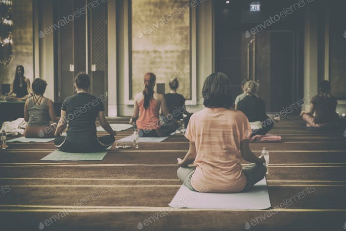 Morning yoga, fitness, wellness, wellbeing, group class, mindfulness
