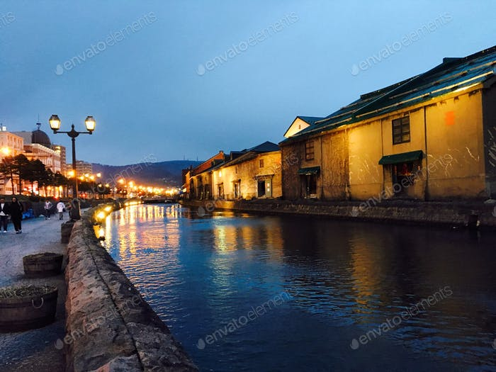 Otaru. Although it was raining and freezing. But it's worth the wait for this breathtaking moment.