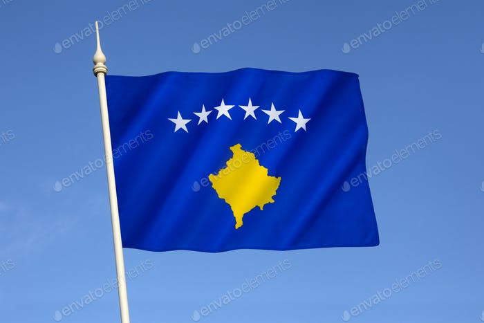 Flag of the Republic of Kosovo - adopted immediately following the declaration of independence of