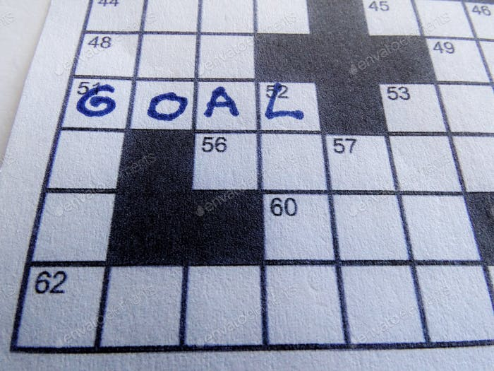 Crossword puzzle, goal