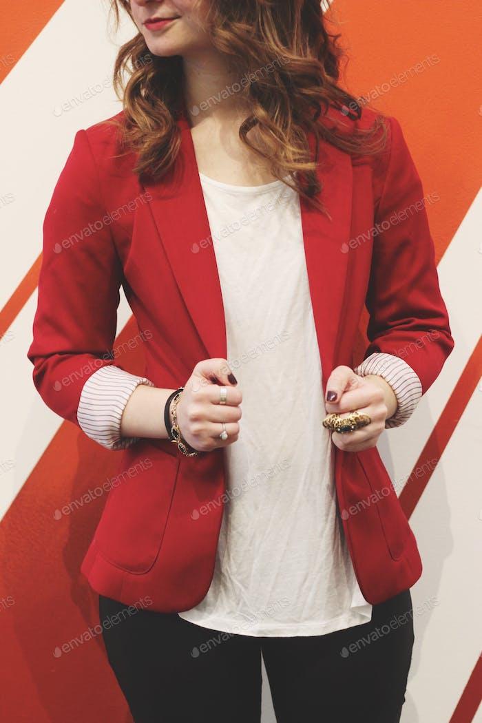 Красный блейзер