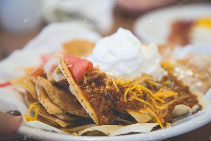 nachos with dip