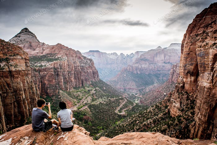 Canyon overlook Zion National Park