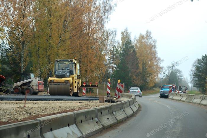 road paving