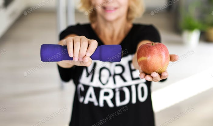 apple and dumbbell