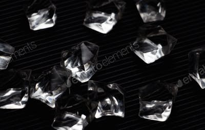 The black crystals on the black floor