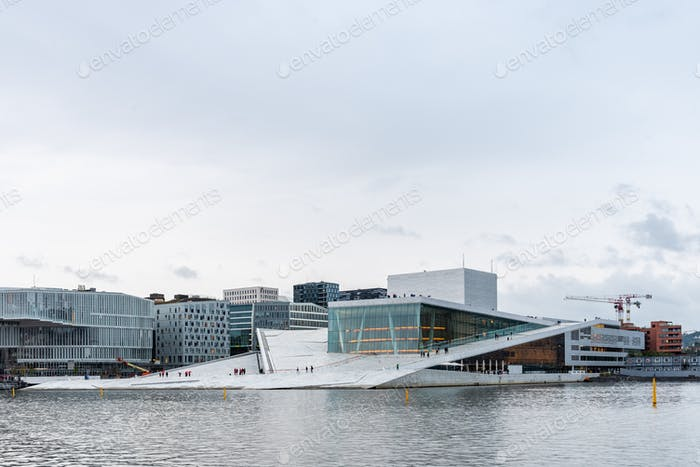 Exterior view of Opera house in Oslo